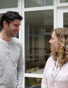 Alexandre Bégué et Mélanie Crolas, étudiants - © M.Broussous