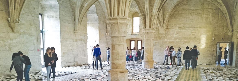 Des 3es du collège Saint-Charles de Cormeilles-en-Parisis (95) ont participé à un projet d'éducation artistique et culturelle avec l'Abbaye de Maubuisson