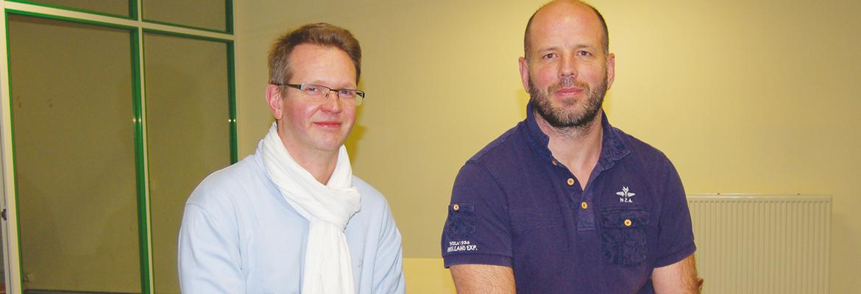Bertrand Leclercq, coordinateur pédagogique, et Jean-Christophe Laval, coordinateur de vie scolaire - © C. Léger