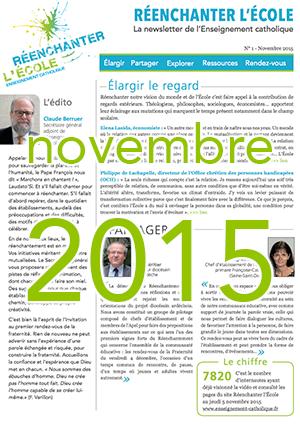 Newsletter Réenchanter l'École n°1 - Novembre 2015