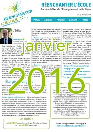Newsletter Réenchanter l'École n°3 - Janvier 2016