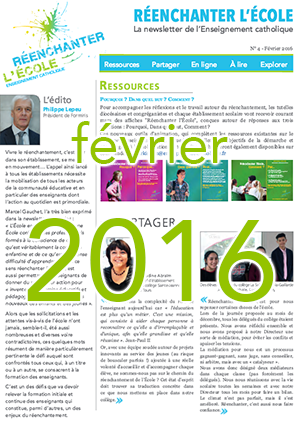 Newsletter Réenchanter l'École n°4 - Février 2016