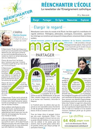 Newsletter Réenchanter l'École n°5 - Mars 2016