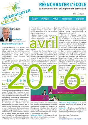 Newsletter Réenchanter l'École n° 6 - Avril 2016