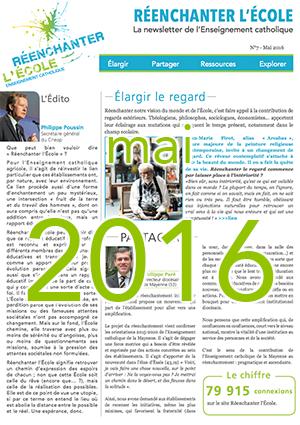 Newsletter Réenchanter l'École n°7 - Mai 2016