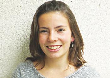 Claire, lycéenne de l'Institution Notre-Dame-La-Riche, à Tours.