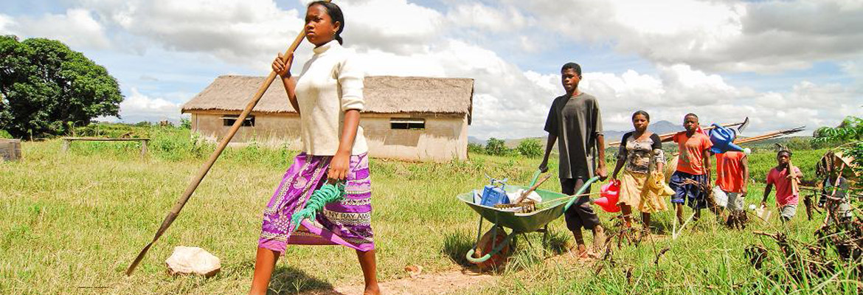 Des élèves des établissements agricoles malgaches que le CNEAP a contribué à créer.