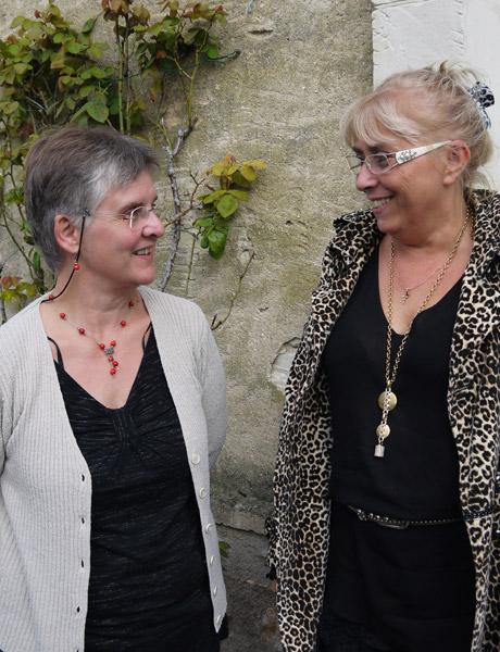 Elisabeth Souchu, directrice du primaire et Christine Marchaland, chef d'établissement du collège Le Jouteux de Bourgueil.