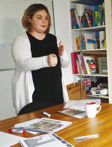 Emilie Fidalgo, éducatrice scolaire.
