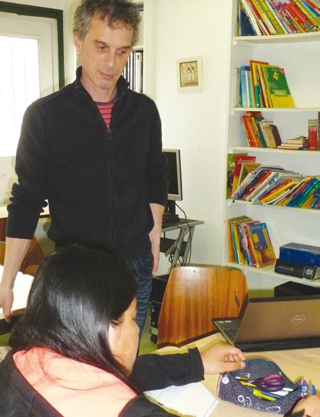 Richard Zeller, enseignant spécialisé et Juliette