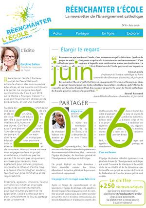 Une newsletter 8 juin 2016 - Réenchanter l'École