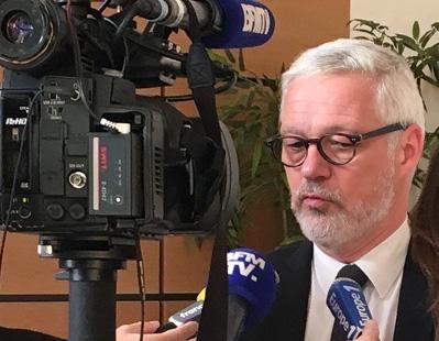 Le secrétaire général de l'enseignement catholique, Pascal Balmand, en conférence de presse le 4 octobre 2016