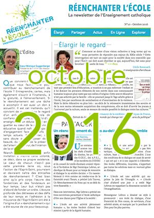 Newsletter n°10 - Réenchanter l'École - Octobre 2016