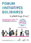 Affiche du forum des initiatives solidaires