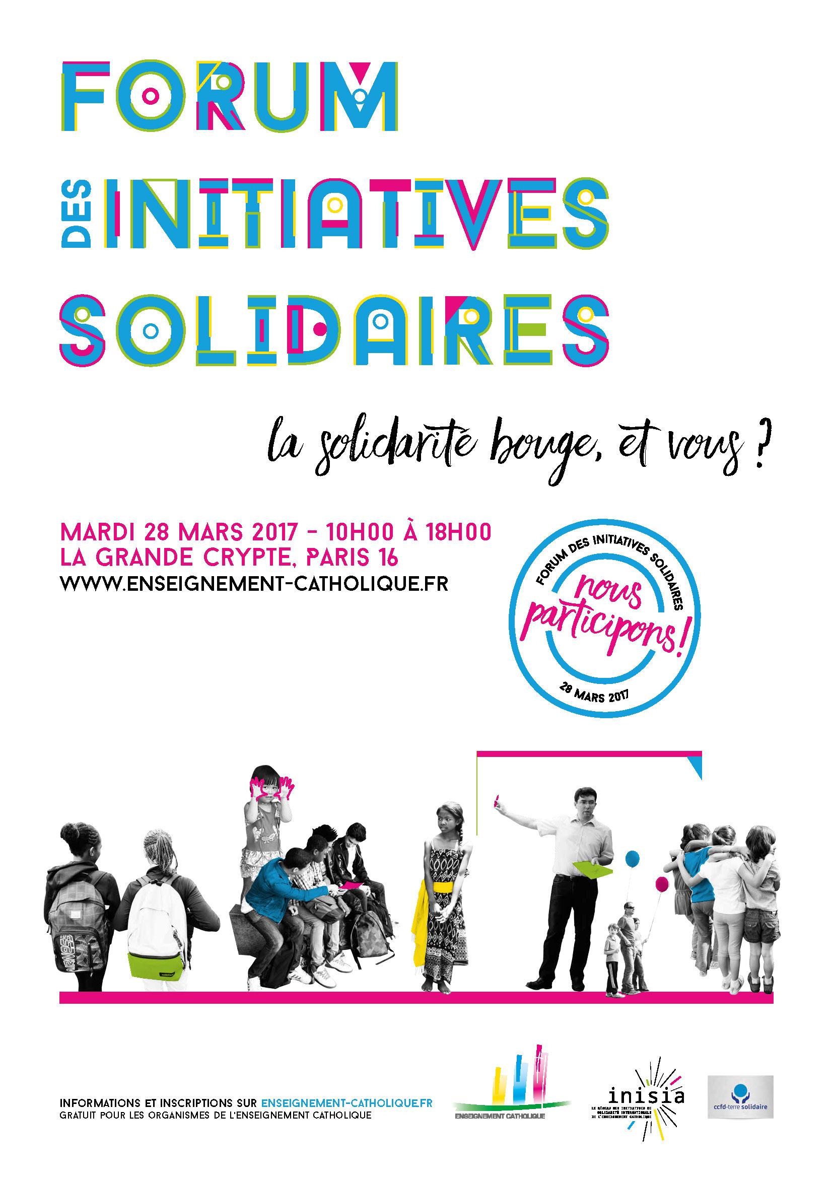 Affiche du forum des initiatives solidaires