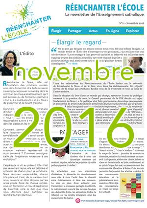 Newsletter n°11 - Réenchanter l'École - Novembre 2016