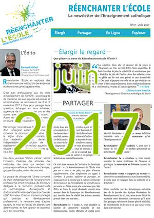 Newsletter Réenchanter l'École n°17 – Juin 2017